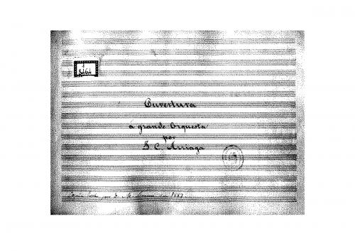Arriaga - Los esclavos felices - Overture - Score