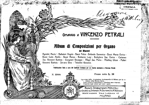 Agostini - Preludio - Organ Scores - Score