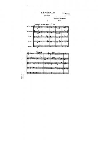 Beliczay - Serenade for Strings, Op. 36 - Score