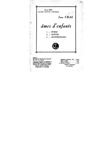 Cras - Ames d'enfants - For Orchestra (Composer) - Score