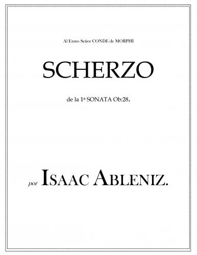 Albéniz - Piano Sonata No. 1, Op. 28 - II. Scherzo
