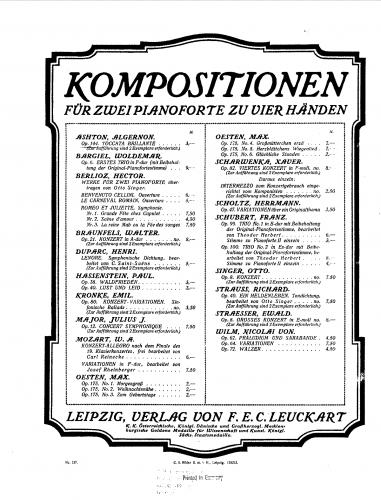 Ashton - Toccata Brillante, Op. 144 - Score
