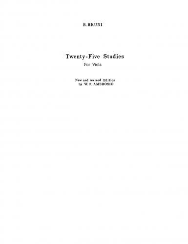Bruni - Metodo per viola seguito da 25 studi - 25 Studies
