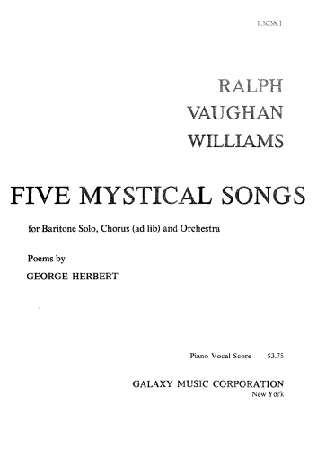Vaughan Williams - Five Mystical Songs - Vocal Score