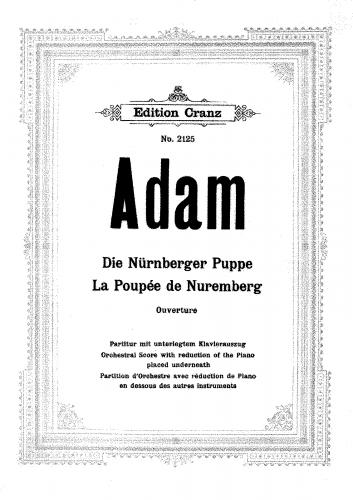 Adam - La poupée de Nuremberg - Overture - Orchestral Score (Including piano reduction)