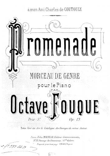 Fouqué - Promenade - Score
