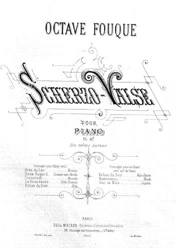 Fouqué - Scherzo-Valse - Score