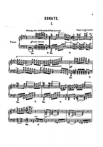 Albert - Piano Sonata, Op. 10 - Score
