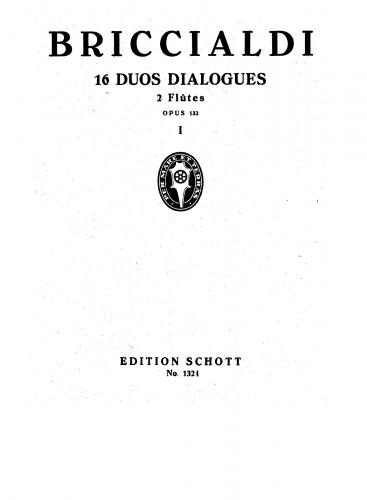 Briccialdi - 16 Duos Dialogués, Op. 132 - Scores