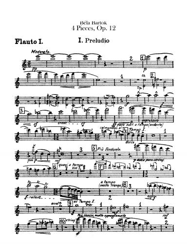 Bartók - 4 Pieces, Op. 12