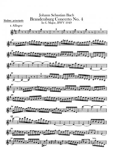 Bach - Brandenburg Concerto No. 4