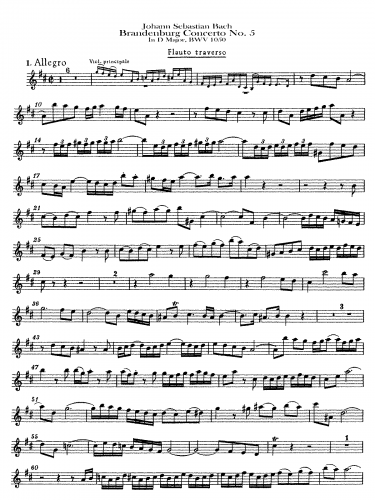 Bach - Brandenburg Concerto No. 5