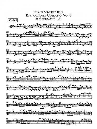 Bach - Brandenburg Concerto No. 6