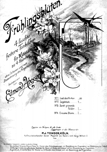 Abesser - Frühlingsblüten - Piano Duet Scores - Score