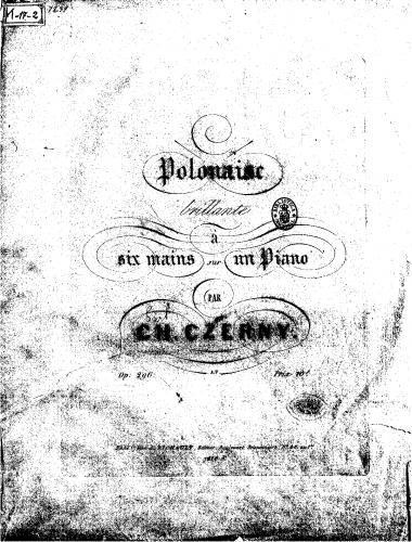 Czerny - Polonaise brillante - Score