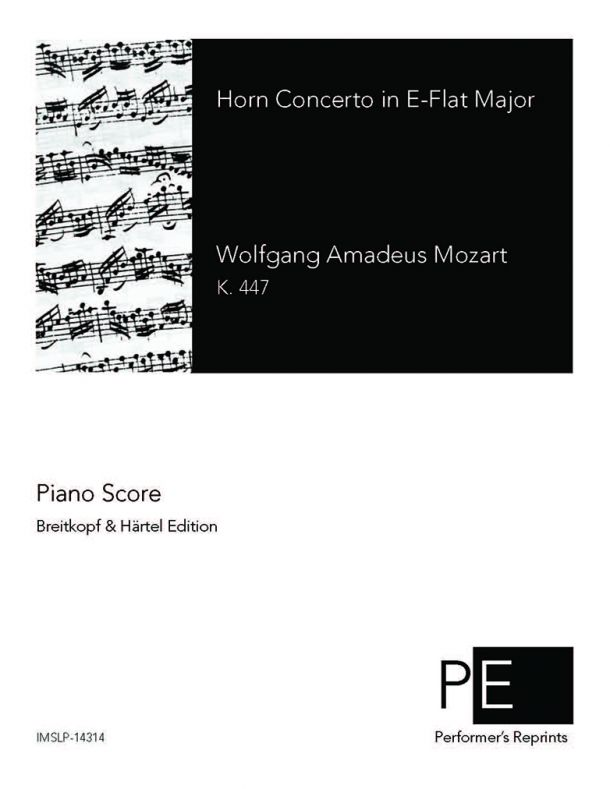Mozart - Horn Concerto in Eb Major - For Horn & Piano