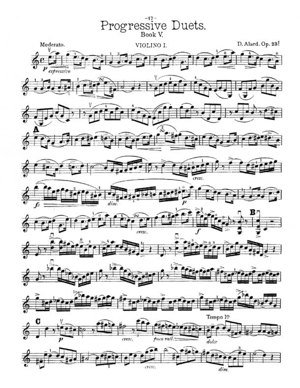 Alard - Progressive Duets, Op. 23 - Duo No. 1 in Cmajor