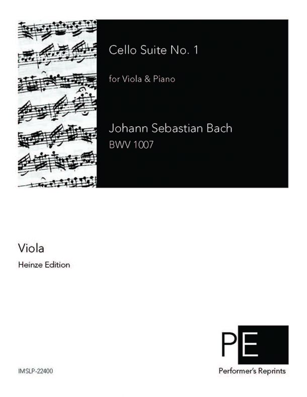 Bach - Cello Suite No. 1 - For Viola & Piano (Stade) - Viola part