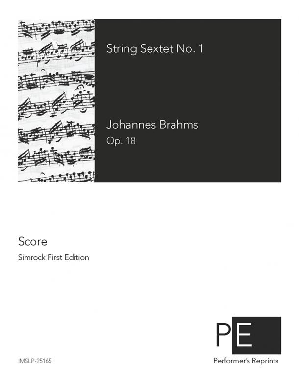 Brahms - String Sextet No. 1 in B♭ major - Score