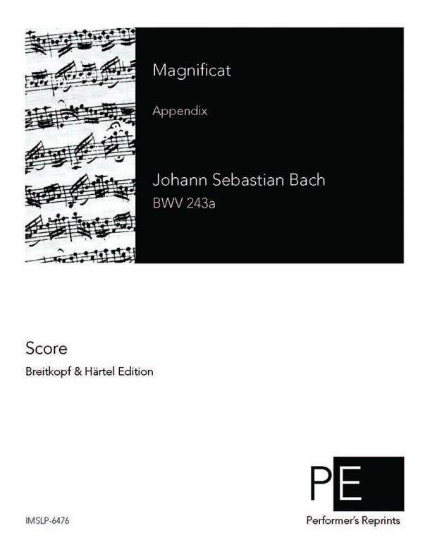 Bach - Magnificat - Appendix with 4 interpolated movements omitted from D major version.