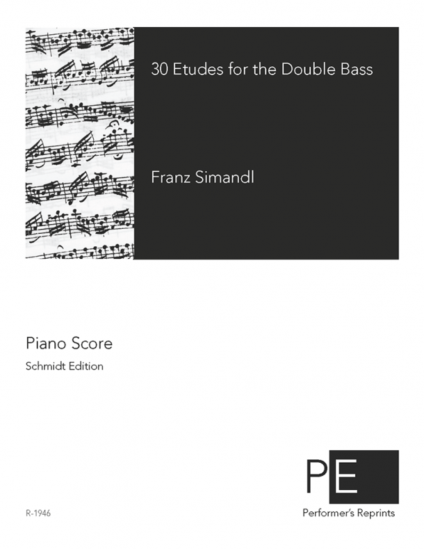 Simandl - 30 Etudes for the Double Bass