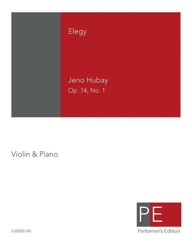 Hubay: Elegy