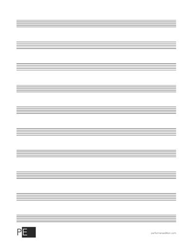 Manuscript Paper - 10 Stave - 50 Sheets