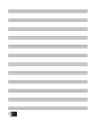 Manuscript Paper - 12 Stave - 30 Sheets