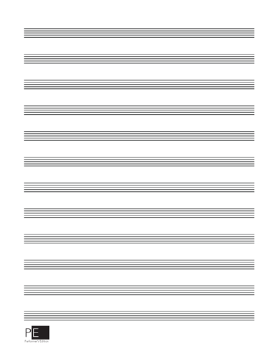 Manuscript Paper - 12 Stave - 50 Sheets