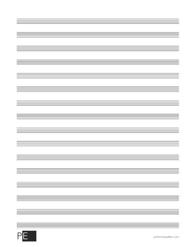 Manuscript Paper - 16 Stave - 30 Sheets