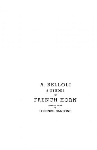 Belloli - 8 Studies - Score