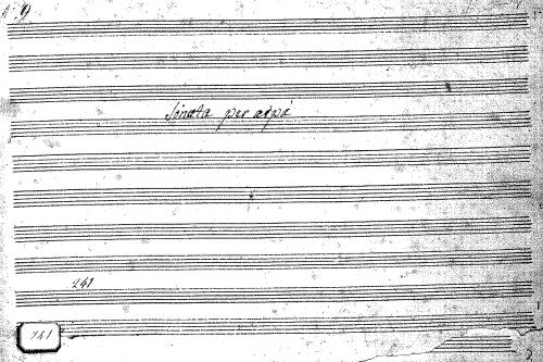 Anonymous - Harp Sonata in E-flat major - Score