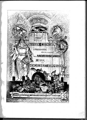 Humperdinck - Die sieben Geislein - Vocal Score - Score