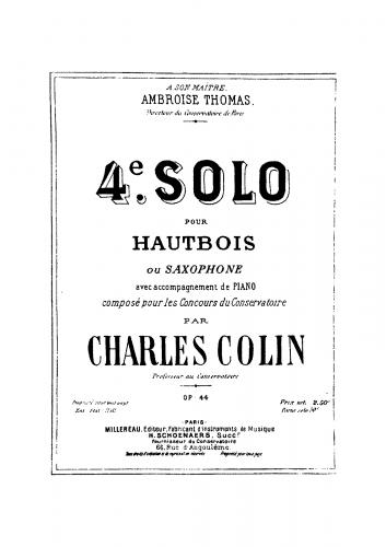Colin - 4ème solo de concours - Score