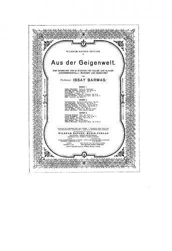 Sauret - 6 Morceaux caractéristiques, Op. 22 - Scores and Parts - 5. Nocturne