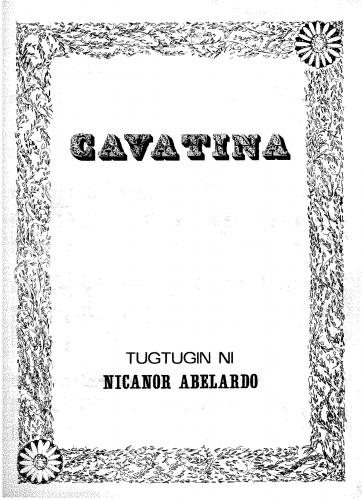 Abelardo - Cavatina - Score