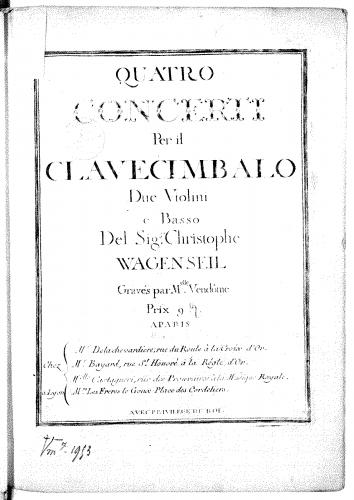 Wagenseil - 4 Harpsichord Concertos