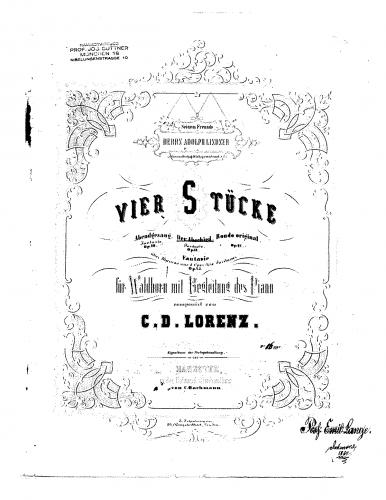 Lorenz - Der Abschied - Piano score