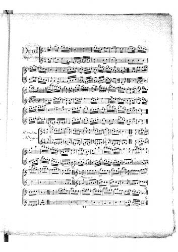 Devienne - 12 Easy Flute Duos - Score
