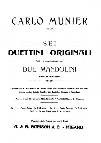 Munier - Duettino ? - Score