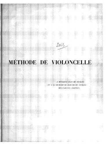 Abbiate - Nouvelle méthode de violoncelle - score