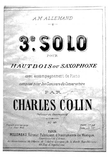 Colin - 3ème solo de concours - Score