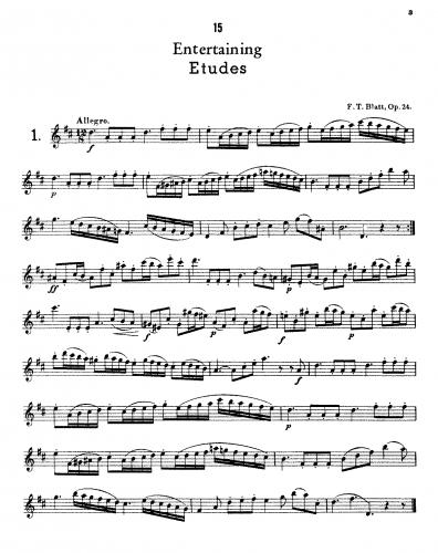 Blatt - 15 Entertaining Etudes - Score