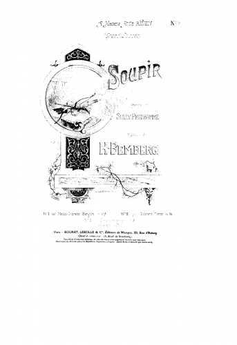 Bemberg - Soupir - Voice and Piano For Soprano or Tenor and Piano - Score