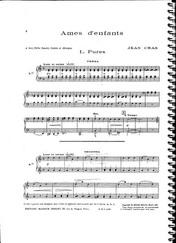 Cras - Ames d'enfants - Piano Score - Score