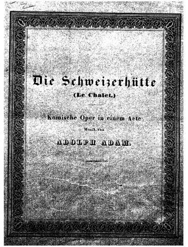 Adam - Le châlet - Vocal Score - Score