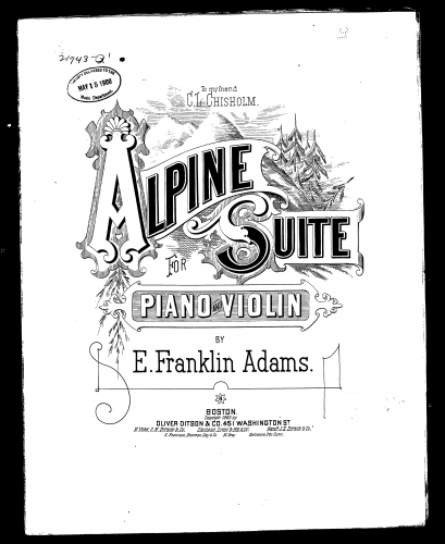 Adams - Alpine Suite in A major - Score