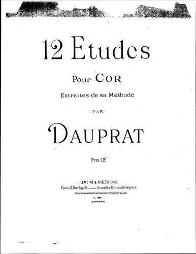 Dauprat - 12 Etudes pour Cor - Etudes
