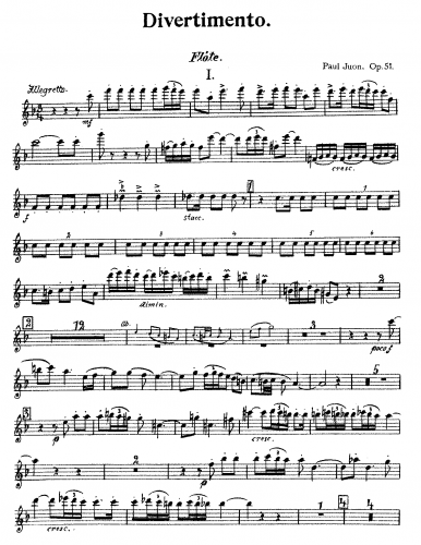 Juon - Divertimento for Piano and Wind Quintet, Op. 51