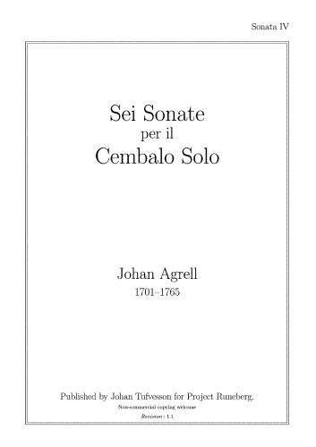 Agrell - Sei Sonata per Cembalo Solo - Sonata IV in E-minor